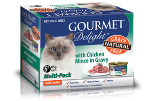 With Chicken Mince in Gravy Multipack 6 x 85g