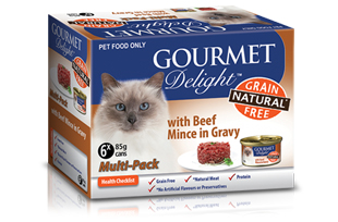 With Beef Mince in Gravy Multipack 6 x 85g