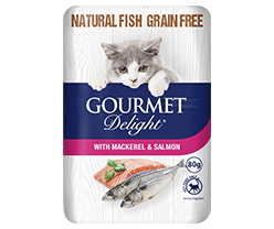 With Mackerel & Salmon 80g Pouch