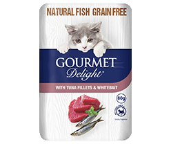 With Tuna Fillets & Whitebait 80g Pouch