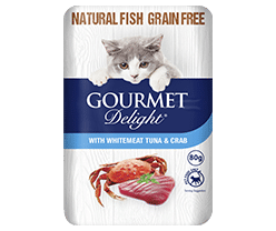 With Tuna & Crab 80g Pouch